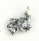 Silver Lions Charm