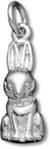 Silver Easter bunny charm