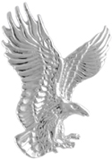 Silver Eagle in Flight Pendant