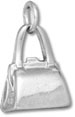 Sterling silver modern hand purse charm