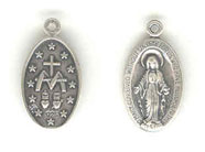 Silver Virgin Mary Double Sided Charm