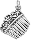 Sterling silver Victorian style comb charm