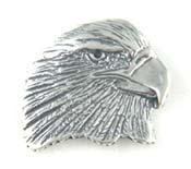 Silver Eagle's Head Pendant
