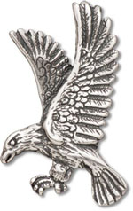 Silver bird owl parrot hummingbird and eagle charms silver eagles head pendant silver eagle pendant mozeypictures Gallery