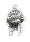 Silver Wicker Chair Charm
