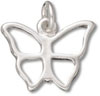 Silver Butterfly Outline Charm
