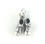 Silver Baby Shoes Charm