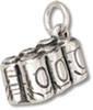 Sterling silver six pack charm