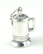 Silver old fashion coffee pot charms