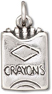 Silver Box of Crayons Charm