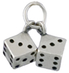 Silver pair of dice charm