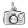 Silver Camera with Crystal for Flash Charm