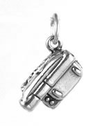 Silver Camcorder Charm