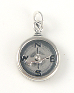silver compass charm that moves