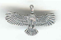 Silver North American Eagle Pendant