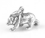 Sterling silver North American bear charm in 3-D