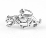 Sterling silver North American Mountain Lion Charm - Panther Charm 3-D