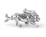 Sterling silver mountain lion charm in 3-D