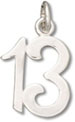 Silver 13th Birthday Charm