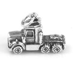 Silver truck charm