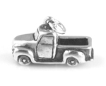 Silver vintage truck charm