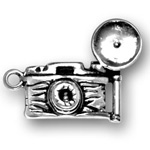 Silver Antique Camera Charm
