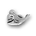 Silver small whale charm