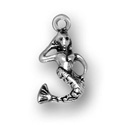 Silver mermaid charm