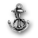 Silver small anchor charm