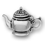 Silver tea pot charm that opens
