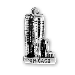 Silver Chicago Marina City charm