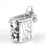 Silver small prayer box charm that opens