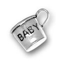 Silver Baby Cup Charm CF244 CH244