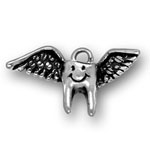 Silver tooth fairy charm