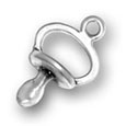 Silver Pacifier Charm