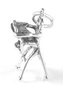 Silver High Chair Charm