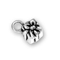 Silver Present or Gift Charm