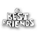Sterling silver Best Friends charm