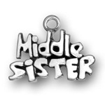 Sterling silver Middle Sister charm