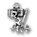 Sterling silver Three Rs charm