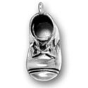 Silver Baby Shoe Charm