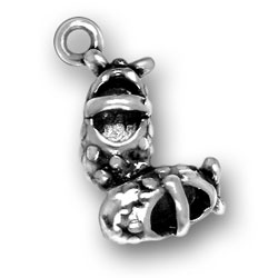 silver Mary Janes charm