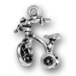 silver child tricycle charm