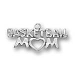 Sterling silver basketball mom charm