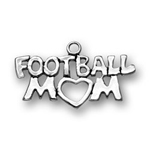 Sterling silver football mom charm