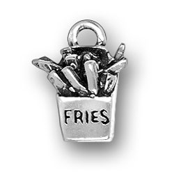 Sterling silver french fries charm
