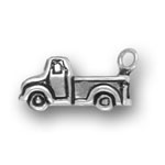 Silver old pickup truck charm