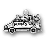 Silver moms taxi charm