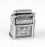 Silver moveable mail box charm