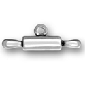 Silver Rolling Pin Charm